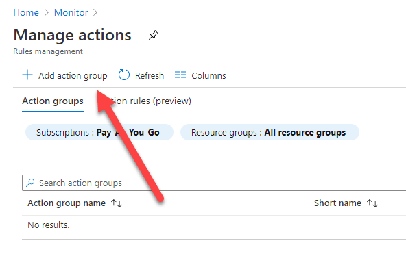 Click Manage Actions Tab
