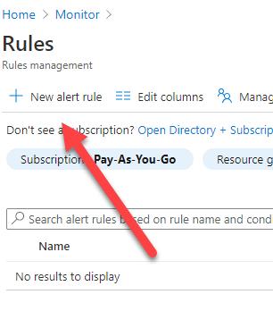 Click New Alert Rule Button