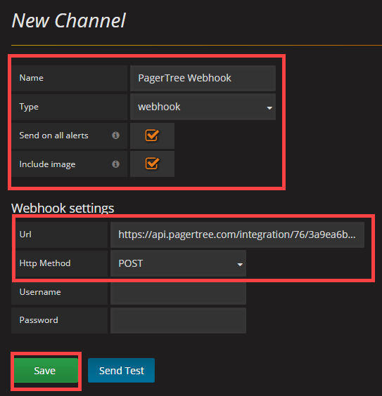 Enter Details in New Channel Form
