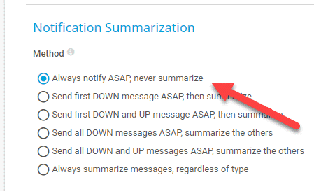 Notification Summarization Settings