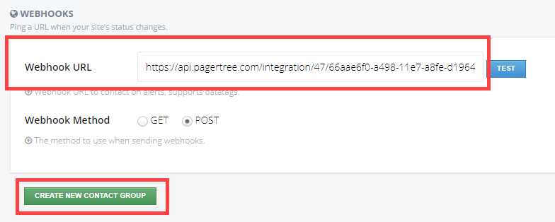 Paste the PagerTree Endpoint URL and click Create