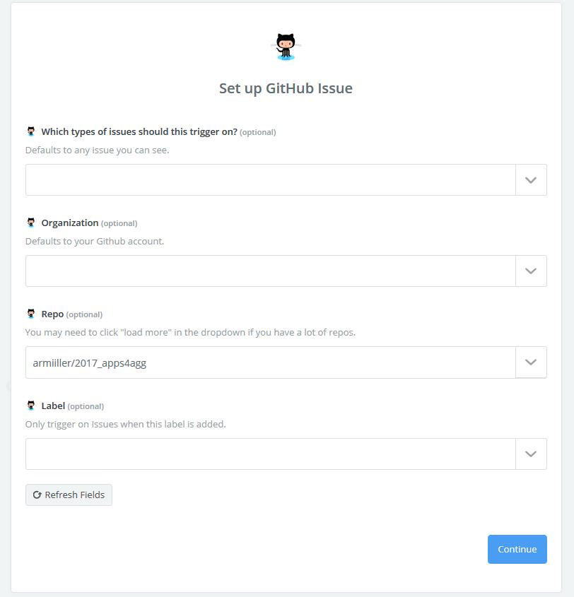 Select GitHub Repo