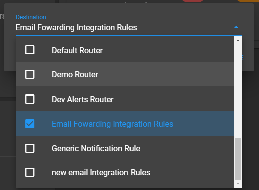 Select the Routing Rules To Use