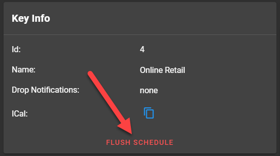 Click Flush Schedule Button