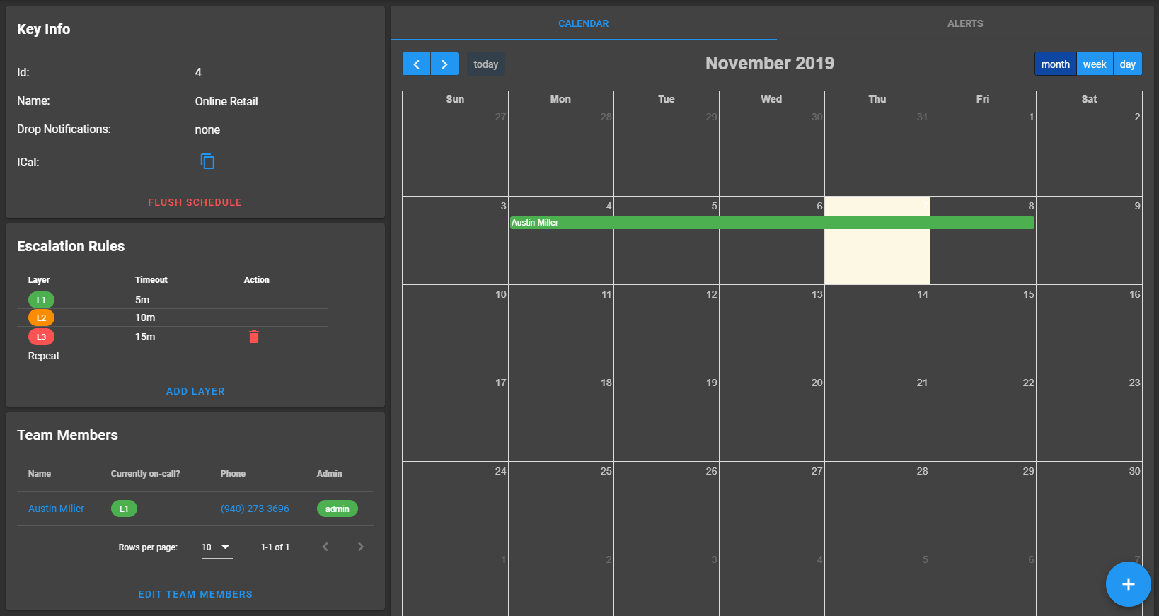 Drag and Drop User to Calendar