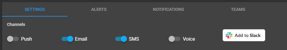 Toggle Notification Settings