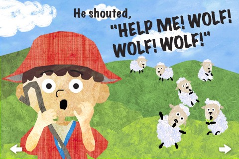 Boy who cried wolf cartoon